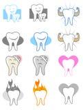 Dentiste Icon Set Photo libre de droits
