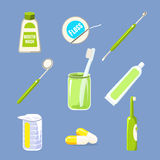 Dentiste Icons et collection de soin de dents Images libres de droits