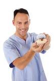 Dentiste mâle caucasien âgé moyen images stock