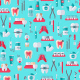 Dentiste sans couture Equipment Pattern Photographie stock