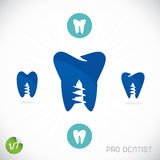 Dentiste Symbols illustration stock