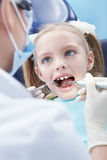 Dentistry. Child examines the dentist in the clinic Stock Photography