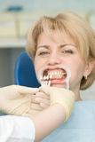 Dentistry. Medical treatment at the dentist office stock images