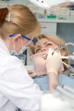 Dentistry. Medical treatment at the dentist office stock photos