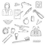 Dentistry and dental health icons Royalty Free Stock Photo