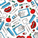 Dentistry and hygiene seamless pattern Stock Image