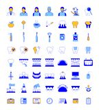 Dental clinic services thin line vector icons royalty free stock photography