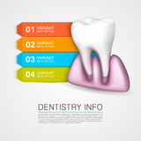 Dentistry info medical art creative. Stock Images