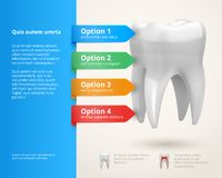 Dentistry infographics Royalty Free Stock Images