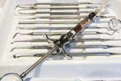 Dentistry instruments Royalty Free Stock Photos
