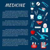 Dentistry medicine infromation banner template Stock Photography