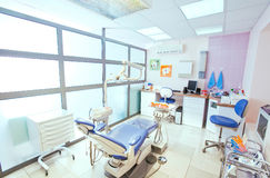 Dentistry office. In blue and white colors Stock Photos