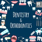Dentistry and orthodontics poster Royalty Free Stock Photo