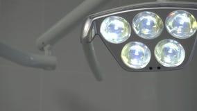 dentistry Stor lampa för tand- enhet arkivfilmer