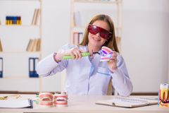 The dentistry student practicing skills in classroom. Dentistry student practicing skills in classroom stock photo