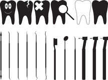 Dentistry tools Royalty Free Stock Images