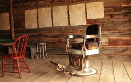 Dentists Chair in Ghost Town. The dentist`s chair in the saloon in the ghost town of Bannack, MT Royalty Free Stock Images
