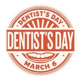 Dentists Day rubber stamp. Dentists Day, March 6, rubber stamp, vector Illustration Royalty Free Stock Image