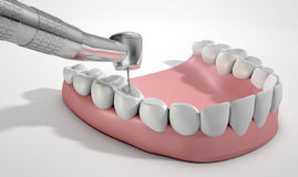 Dentists Drill And Teeth Royalty Free Stock Image