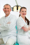 Dentists in their surgery Royalty Free Stock Image
