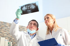 Dentists at work Royalty Free Stock Image