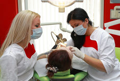 Dentists at work Stock Image