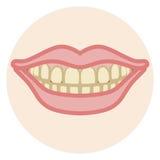 Dentition - tache illustration libre de droits
