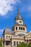 Denton County Courthouse i Denton, Texas Fotografering för Bildbyråer