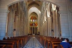 Dentro Almudena Cathedral a Madrid, la Spagna Fotografie Stock Libere da Diritti