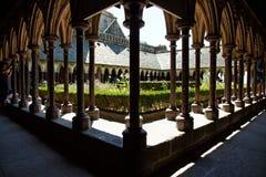 Dentro da abadia da montagem de St Michael, Normandy, France Imagens de Stock