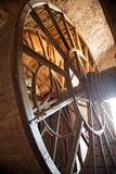 Dentro da abadia da montagem de St Michael, Normandy, France Foto de Stock Royalty Free