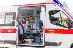 Dentro da ambulância Fotos de Stock Royalty Free
