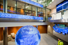 Dentro da bolsa de valores de Londres Fotos de Stock