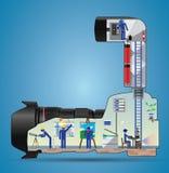 Dentro da câmera Foto de Stock