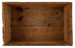 Dentro da caixa de madeira realmente velha Fotos de Stock