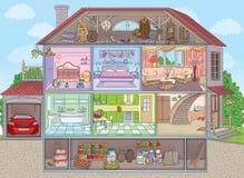 Dentro da casa Imagem de Stock Royalty Free