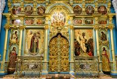 Dentro da catedral da ressurreição no monastério novo do Jerusalém, Ru fotografia de stock royalty free