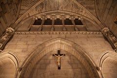 Dentro da catedral de Notre Dame fotografia de stock