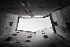 Dentro da construção em Itália Foto de Stock