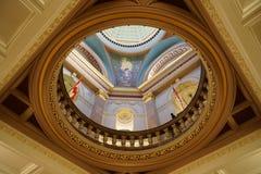 Dentro da construção legislativa do Columbia Britânica em Victoria, Britis Foto de Stock Royalty Free