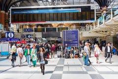 Dentro da estação da rua de Liverpool em Londres, Reino Unido fotografia de stock