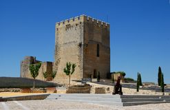 Dentro da fortaleza de Motta ao la de Estejo-Alcala real na Espanha Imagem de Stock