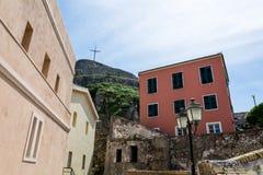 Dentro da fortaleza velha, Corfu, Grécia Imagens de Stock