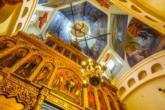 007 - Dentro da ideia da catedral da manjericão do St do quadrado vermelho e imagem de stock royalty free