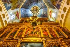 008 - Dentro da ideia da catedral da manjericão do St do quadrado vermelho fotos de stock