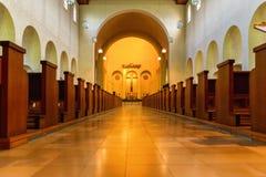Dentro da igreja Foto de Stock Royalty Free