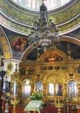 Dentro da igreja Imagens de Stock Royalty Free