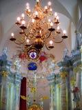 Dentro da igreja Católica Imagens de Stock
