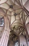 Dentro da igreja de Freiburg im Breisgau Fotografia de Stock Royalty Free