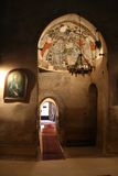 Dentro da igreja do monastério imagem de stock royalty free